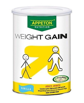 1 X 900g Appeton Nutrion Weight Gain Powder for Adults Vanila Flavor Expedite CG