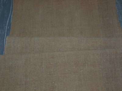 3 yards Unbleached Oatmeal Handwoven Vintage Homespun Linen Antique Flax Fabric