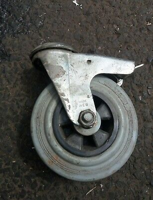 Caster wheel with braked cradle 125/37.5-50