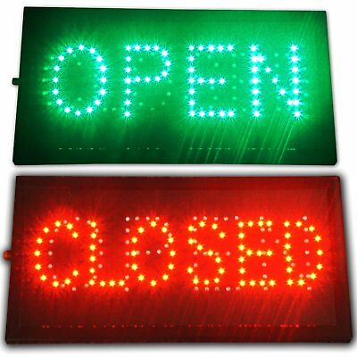 "Bright LED 2 in1 Open & Closed Store Shop Business Sign 19x10"" Display Neon SK"
