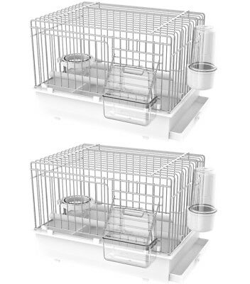 x2 Pet Ting Luxury Bird Transport Cage - Travel Cage Finch Canary Budgie Strong