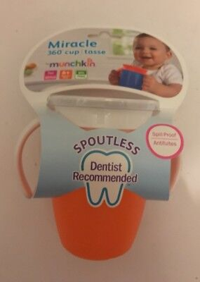 BNWT Munchkin 360 Miracle Spoutless Sippy Drink Cup Toddler Handles FREE POST