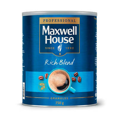 Maxwell House Instant Coffee Granules Rich Blend Tin 750g 4032034