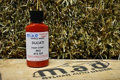 M.a.d Ducati Red 473.101 Rosso Paint Touch Up Kit 30Ml Brush Scratch Motorbike
