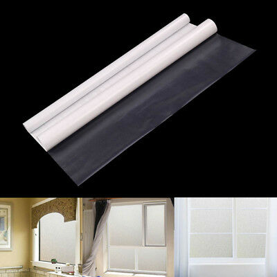 100CM/600CM Privacy White Frosted Window Door Film Frost Etched Glass Sticker
