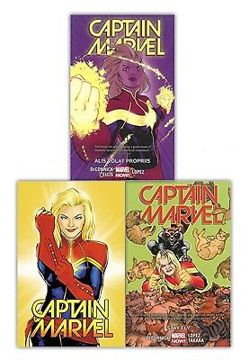 Captain Marvel Volume 1-3 Collection 3 Books Set Stay Fly, Alis Volat Propriis