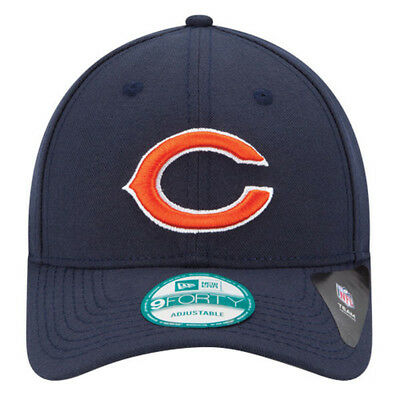 check out 2b6d8 a3cc7 New Era 9forty Chicago Bears Official League Adjustable 940 Curve Peak Hat  Cap