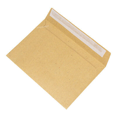 50 x C6 Envelopes Strong Manilla Plain 80gsm Self Seal A6 Brown Sealed Pack Set