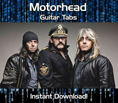 Motorhead Rock Guitar Tab Tablature Download Song Book Software Tuition