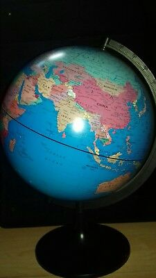 Large world rotating swivel map of Earth Atlas geography
