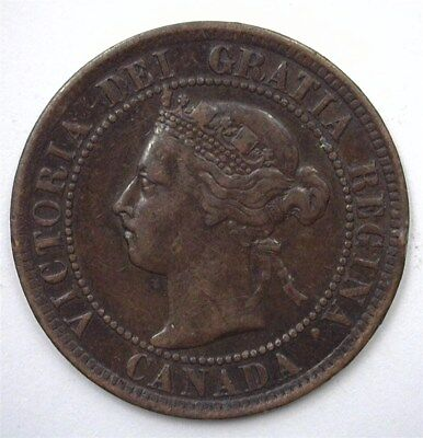 Canada 1897 Large Cent  Choice About Uncirculated