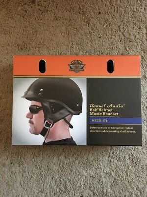 BOOM! AUDIO HALF HELMET MUSIC HEADSET, New, 76569-09