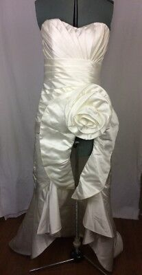 New CELEB Wedding Dress Bridal gown Size 10 Strapless Sweetheart High Low hem