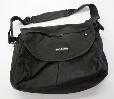 Columbia Outfitter Messenger Diaper Bag Black Adjustable Strap Changing Pad