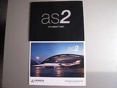 """Aerion AS2 """"It's About Time"""" Supersonic Business Jet Sales Brochure"""