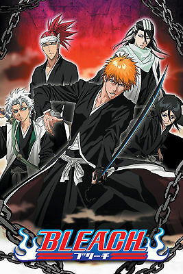 Bleach Group Action - Chained - Manga - Anime Poster Plakat Druck - 61x91,5 cm