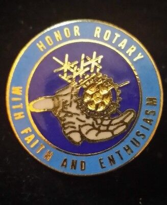 "Rotary International Theme ""Honor Rotary With Faith and Enthusiasm"" Lapel Pin"
