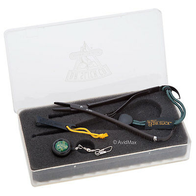 """Dr. Slick 5.5"""" Mitten Clamp Gift Sets + Large Fly Box Fishing Black"""