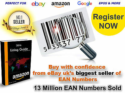 Barcodes Numbers Bar Codes for Amazon Ebay 10-100 000 Express