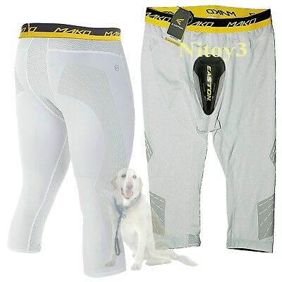 Easton Mens Mako 3/4 Sliding-Compression Shorts With Cup XL: 37 - 39