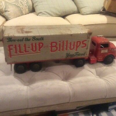 Rare Billups Oil Toy Truck And Trailer Vintage