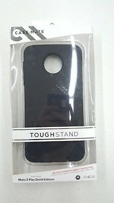 Case-Mate Tough Stand Hard Case for Motorola Moto Z PLAY Droid Edition Black New