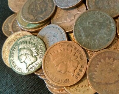 Lot of 20 Mixed Indian Head Pennies
