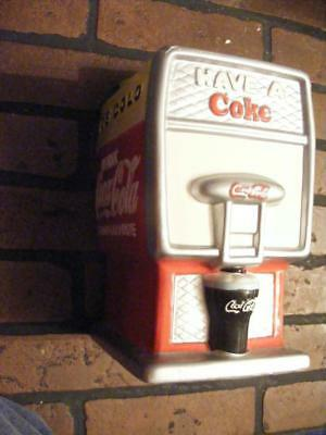 Coca-Cola Cookie Jar Fountain Drink Dispenser Shape Coke Collectible