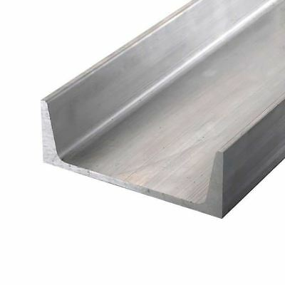 "Aluminum Channel, American Std, 6061-T6, Width: 3"", Height: 1.5"", Length: 48"""