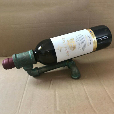 Industrial Pipe Bottle Glass Holder Wine Gin Home Bar Cellar Counter 6inch