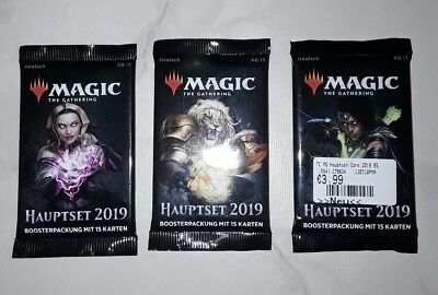 Magic the Gathering 3x Hauptset 2019 [Booster] OVP deutsch