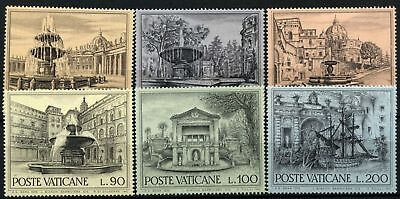 Vatican City 1975 SG#633-8 Archetectural Heritage Year, Fountains MNH Set#D77503