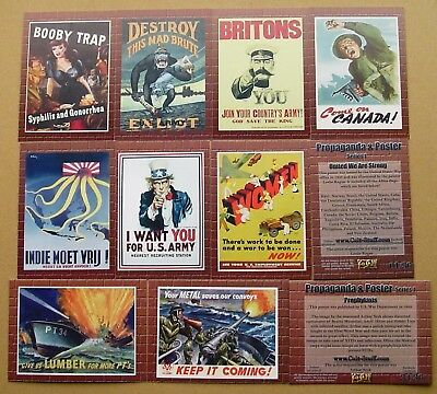 Military Propaganda Posters - Base Set of 36 Mint Trading Cards by Cult-Stuff