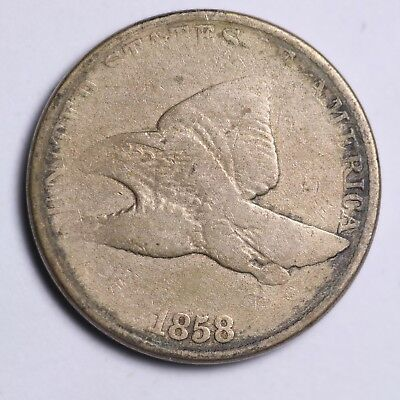1858 LARGE LETTERS Flying Eagle Cent Penny FREE SHIPPING