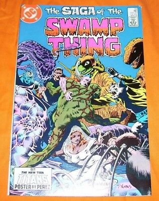 SAGA OF THE SWAMP THING #22 Alan Moore VF- 7.5