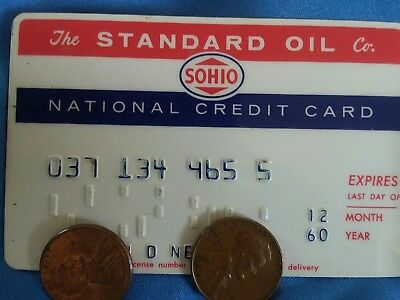 Vintage 1960 Standard Oil Gasoline Credit Card Gas Station Original National