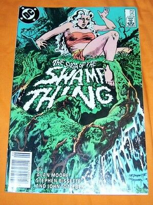 SAGA OF THE SWAMP THING #25 Alan Moore VF 8.0