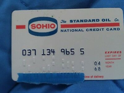 1968 STANDARD OIL GASOLINE Sohio CREDIT CARD GAS STATION ORIGINAL NATIONAL VTG