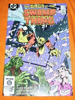 SAGA OF THE SWAMP THING #27 Alan Moore VF+ 8.5