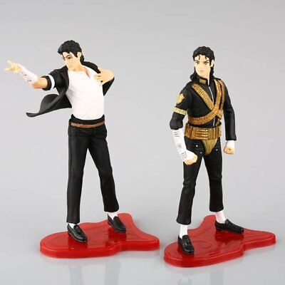 "King Of Pop Michael Jackson 4"" Figures 5 Poses Figurines Set Doll Statue Toy"