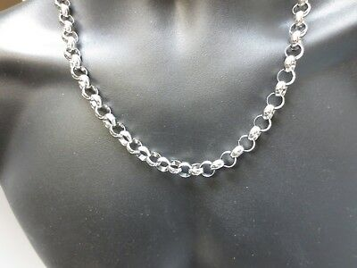 24 Inch Stainless Steel Silver 10 Mm Rolo Cross Link Rope Chain Necklace