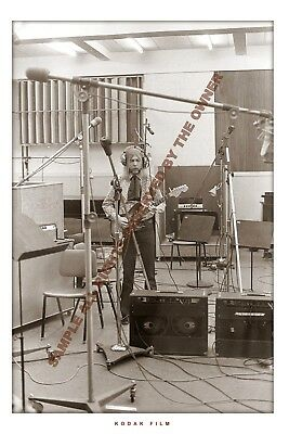 THE ALLMAN BROTHERS DUANE ALLMAN IN THE STUDIO 1970 8x12 SUPERB QUAL PRO LAB