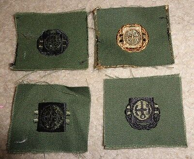 Army Patch,army Sew On Cloth Badge Set Of 4, Nuclear Reactor Operator Badges