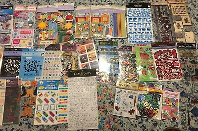 Large Lot Of Stickers John Deere, Letters, Boys And More