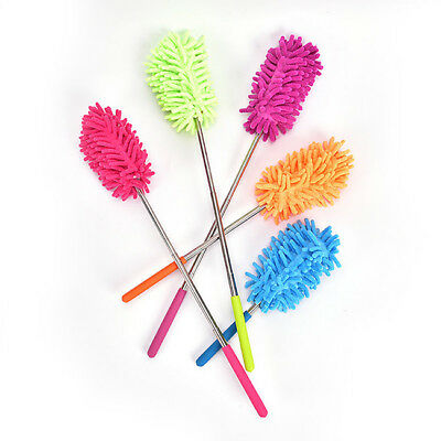 Extendable Telescopic Fabric Cleaning Feather Dusters Brush Home Clean Tool 8C