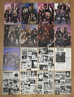 Vintage Warrant Jani Lane Jerry Dixon Turner Pinup Magazine Clippings Lot Of 16