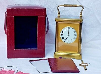 Good Quality brass Striking Carriage clock and case