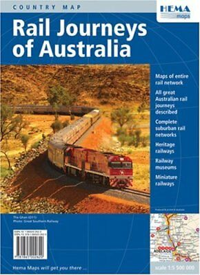 Rail Journeys of Australia by South Pacific Maps Pty Ltd Sheet map Book The