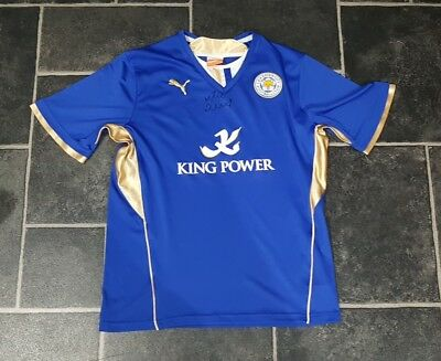 92abe34f597 JAMIE VARDY SIGNED Leicester City Home Shirt 18/19 *proof* England ...