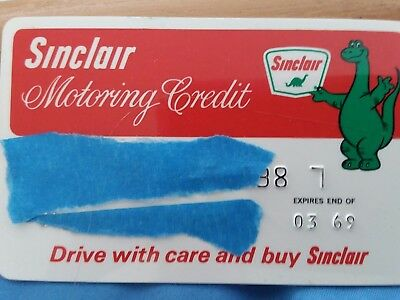 1969 Sinclair Refining Company Gas And Oil Motoring Credit Card